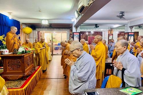 HT. Thích Giác Quang đã thân lâm chứng dự buổi khai giảng lớp học trường hạ do Ban trị GHPGVN huyện Nhơn Trạch tổ chức tại chùa Pháp Thường