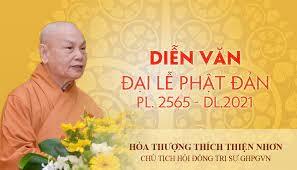 Diễn Văn Phật Đản PL.2565 – DL.2021