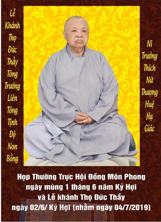 Tinh Thần Tri Ân Báo Ân Nhân Lễ Khánh Thọ Đức Thầy (Mùng 2 Tháng 6 Năm Kỷ Hợi)